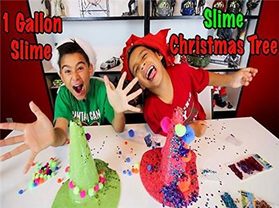 Damian & Deion in Motion 1 gallon christmas slime and slime christmas tree decorating (2018– ) Online